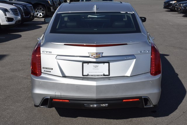 2018 Radiant Silver Metallic Cadillac CTS AWD 2.0L 4-Cylinder Turbocharged Engine Sedan Automatic
