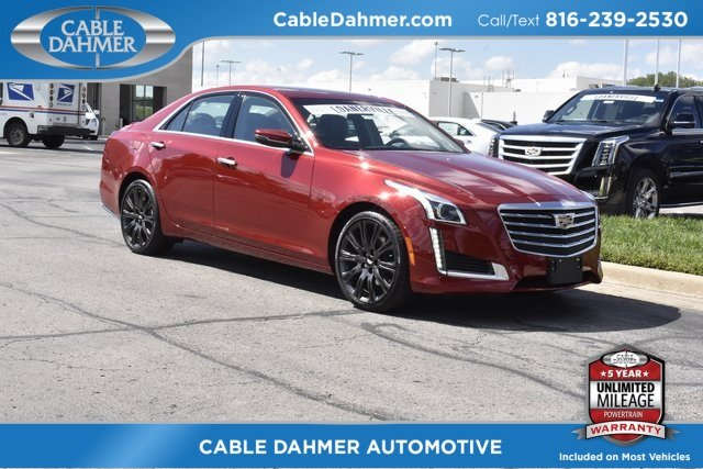 2018 Red Obsession Tintcoat Cadillac CTS Luxury AWD Sedan 4 Door AWD 2.0L 4-Cylinder Turbocharged Engine