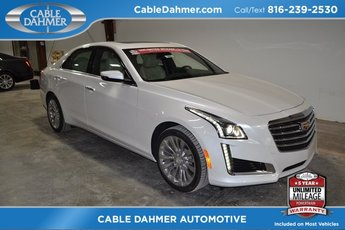 2018 Crystal White Tricoat Cadillac CTS Luxury AWD Automatic AWD 2.0L 4-Cylinder Turbocharged Engine 4 Door Sedan