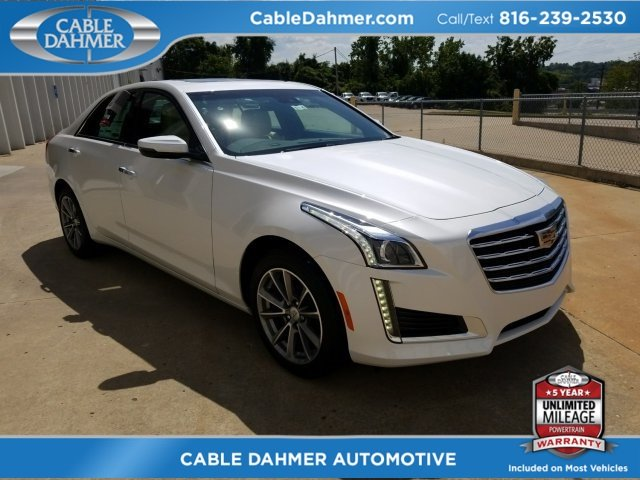 2018 Crystal White Tricoat Cadillac CTS Luxury AWD 2.0L 4-Cylinder Turbocharged Engine 4 Door Sedan AWD Automatic