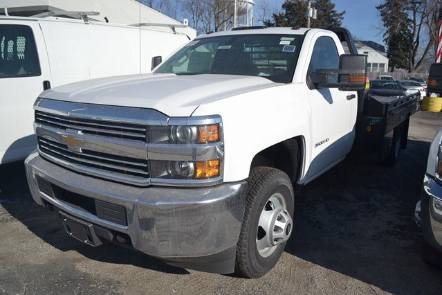 2018 Summit White Chevy Silverado 3500HD Work Truck 2 Door Vortec 6.0L V8 SFI Flex Fuel VVT Engine Automatic 4X4