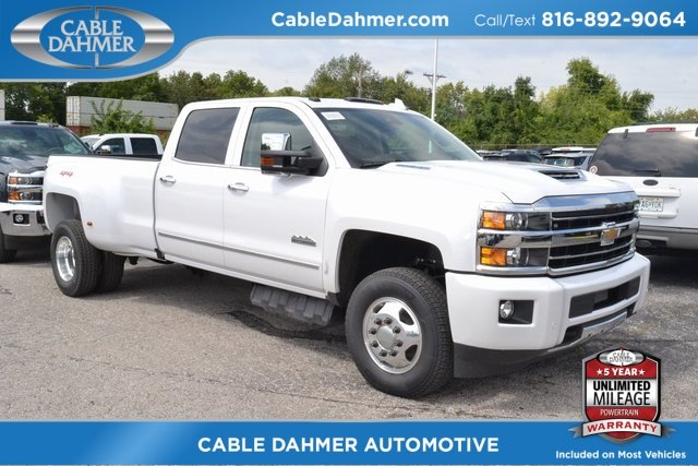 2019 Iridescent Pearl Tricoat Chevy Silverado 3500HD High Country Duramax 6.6L V8 Turbodiesel Engine 4X4 Truck 4 Door
