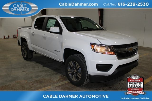 2018 Summit White Chevy Colorado 4WD Work Truck V6 Engine 4X4 Automatic 4 Door Truck