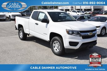 2019 Summit White Chevy Colorado 2WD Work Truck Truck 2.5L I4 DI DOHC VVT Engine RWD