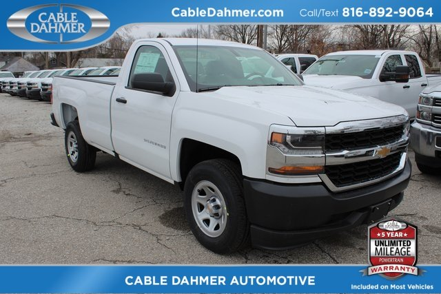 2018 Summit White Chevy Silverado 1500 WT RWD Automatic Truck EcoTec3 5.3L V8 Flex Fuel Engine