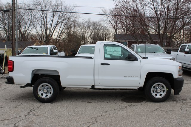 2018 Summit White Chevy Silverado 1500 WT EcoTec3 5.3L V8 Flex Fuel Engine Automatic 2 Door Truck