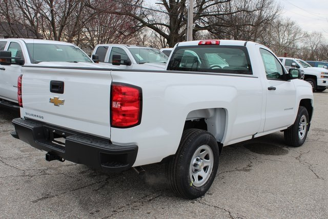 2018 Summit White Chevy Silverado 1500 WT Truck 2 Door EcoTec3 5.3L V8 Flex Fuel Engine