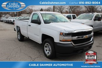 2018 Summit White Chevy Silverado 1500 WT EcoTec3 5.3L V8 Flex Fuel Engine 2 Door RWD Automatic