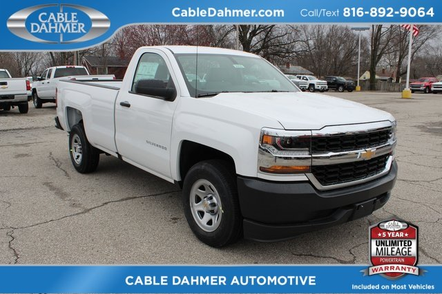 2018 Summit White Chevrolet Silverado 1500 WT EcoTec3 5.3L V8 Flex Fuel Engine Truck RWD
