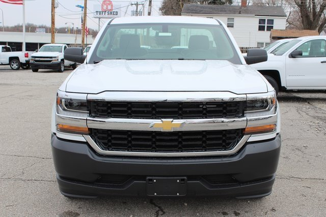 2018 Summit White Chevrolet Silverado 1500 WT EcoTec3 5.3L V8 Flex Fuel Engine Automatic RWD