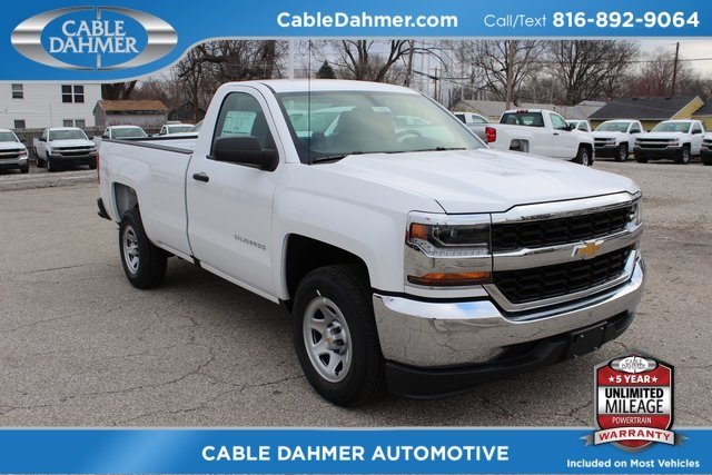 2018 Summit White Chevrolet Silverado 1500 WT Automatic 2 Door Truck RWD