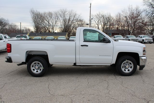 2018 Summit White Chevrolet Silverado 1500 WT 2 Door EcoTec3 5.3L V8 Flex Fuel Engine Truck Automatic RWD