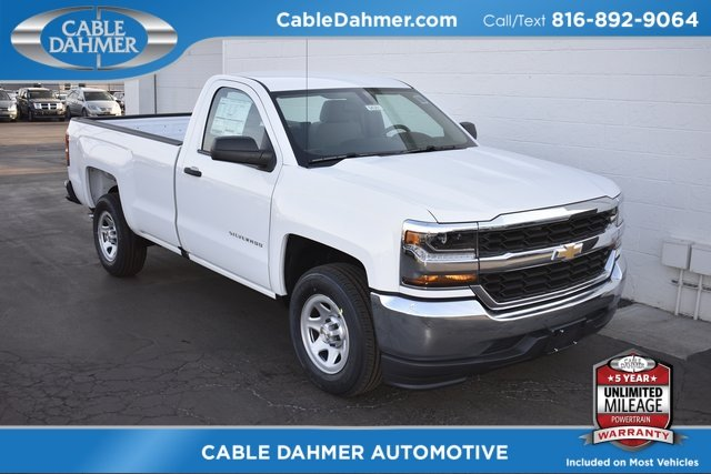 2018 Summit White Chevy Silverado 1500 WT EcoTec3 5.3L V8 Flex Fuel Engine RWD Automatic 2 Door