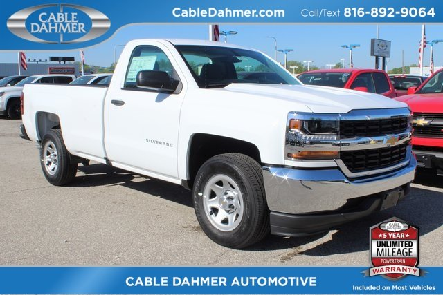 2018 Summit White Chevy Silverado 1500 WT EcoTec3 5.3L V8 Flex Fuel Engine Automatic RWD 2 Door Truck