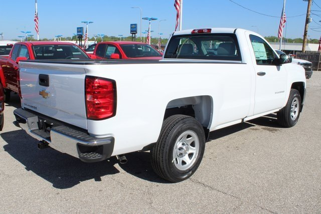 2018 Summit White Chevy Silverado 1500 WT EcoTec3 5.3L V8 Flex Fuel Engine RWD Truck 2 Door