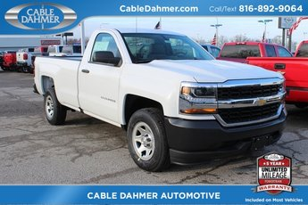 2018 Summit White Chevrolet Silverado 1500 Work Truck 2 Door EcoTec3 5.3L V8 Flex Fuel Engine RWD Automatic