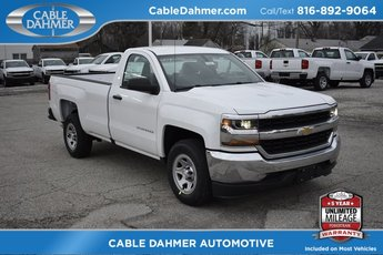 2018 Summit White Chevy Silverado 1500 WT RWD Truck EcoTec3 5.3L V8 Flex Fuel Engine