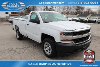 2018 Summit White Chevrolet Silverado 1500 WT 2 Door Truck Automatic EcoTec3 5.3L V8 Flex Fuel Engine