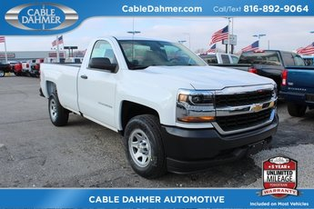 2018 Summit White Chevrolet Silverado 1500 Work Truck RWD EcoTec3 5.3L V8 Flex Fuel Engine Automatic Truck