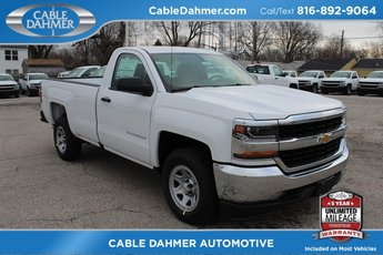 2018 Summit White Chevrolet Silverado 1500 WT 2 Door EcoTec3 5.3L V8 Flex Fuel Engine RWD Truck