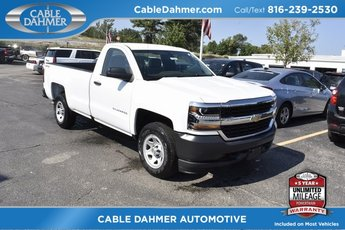 2018 Summit White Chevrolet Silverado 1500 Work Truck Automatic EcoTec3 5.3L V8 Flex Fuel Engine Truck 2 Door