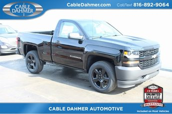 2018 Black Chevrolet Silverado 1500 Work Truck 2 Door EcoTec3 5.3L V8 Flex Fuel Engine Truck 4X4