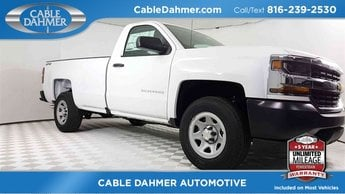 2018 Summit White Chevy Silverado 1500 Work Truck 4X4 EcoTec3 5.3L V8 Flex Fuel Engine Truck 2 Door Automatic