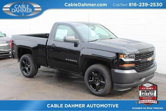 2018 Black Chevrolet Silverado 1500 Work Truck Truck 2 Door 4X4