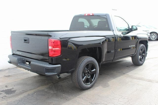 2018 Black Chevrolet Silverado 1500 Work Truck EcoTec3 5.3L V8 Flex Fuel Engine Automatic 4X4 2 Door