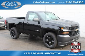 2018 Black Chevy Silverado 1500 Work Truck EcoTec3 5.3L V8 Flex Fuel Engine Truck Automatic 2 Door 4X4