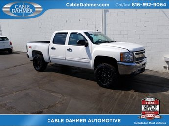 2012 White Chevrolet Silverado 1500 LT 4X4 Vortec 5.3L V8 SFI VVT Flex Fuel Engine 4 Door Automatic