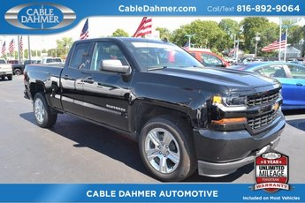 2018 Black Chevy Silverado 1500 Custom Truck RWD 4 Door EcoTec3 5.3L V8 Flex Fuel Engine