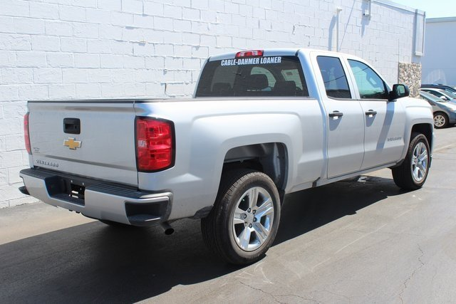 2018 Silver Ice Metallic Chevy Silverado 1500 Custom Truck RWD Automatic 4 Door EcoTec3 5.3L V8 Flex Fuel Engine