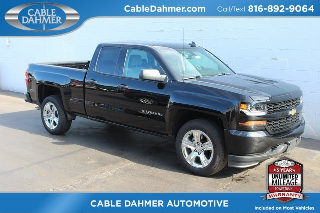 2018 Black Chevrolet Silverado 1500 Custom RWD EcoTec3 5.3L V8 Flex Fuel Engine Automatic 4 Door