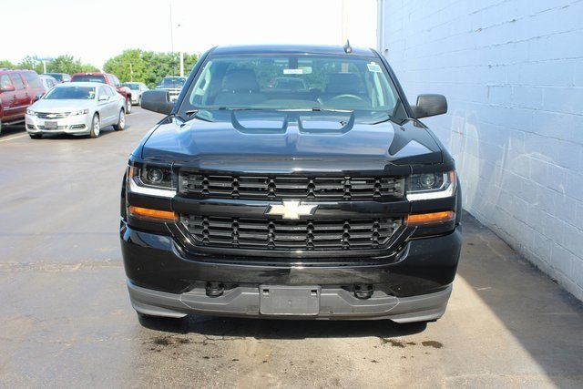 2018 Black Chevy Silverado 1500 Custom 4 Door RWD EcoTec3 5.3L V8 Flex Fuel Engine Automatic Truck