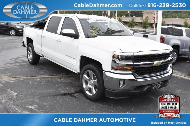 2018 Summit White Chevy Silverado 1500 LT Automatic 4 Door Truck EcoTec3 5.3L V8 Flex Fuel Engine