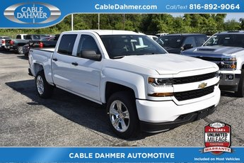 2018 Chevy Silverado 1500 Custom 4 Door 4X4 Automatic Truck EcoTec3 5.3L V8 Flex Fuel Engine