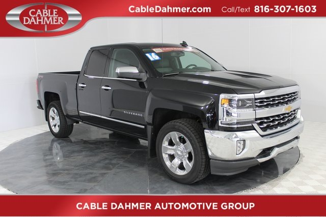 2016 Black Chevrolet Silverado 1500 LTZ 4X4 Truck 4 Door Automatic EcoTec3 5.3L V8 Engine