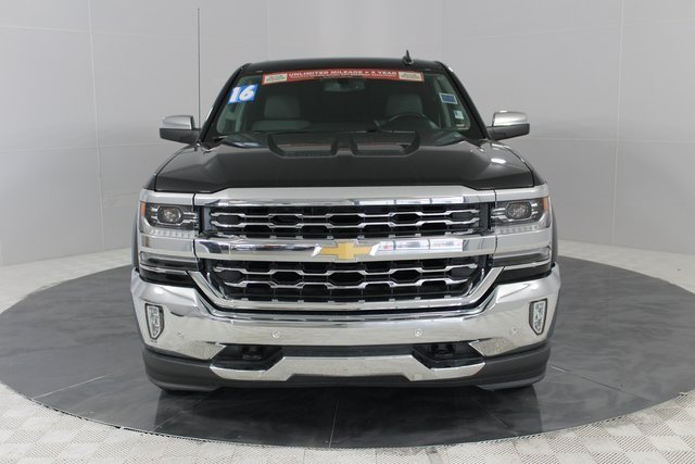 2016 Black Chevrolet Silverado 1500 LTZ 4 Door EcoTec3 5.3L V8 Engine Truck Automatic 4X4
