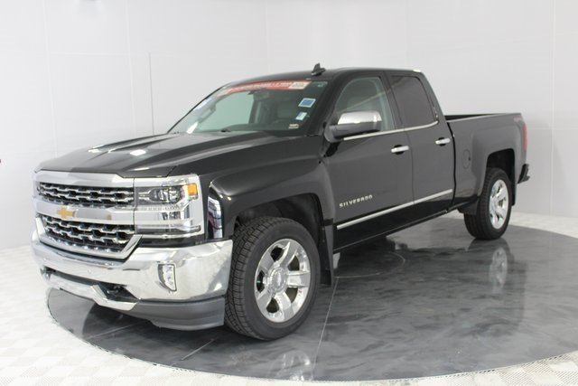 2016 Black Chevrolet Silverado 1500 LTZ 4X4 Truck Automatic 4 Door