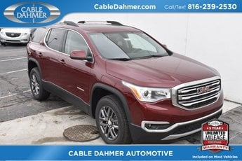 2018 Crimson Red Tintcoat GMC Acadia SLT 3.6L V6 SIDI DOHC VVT Engine Automatic 4 Door AWD SUV