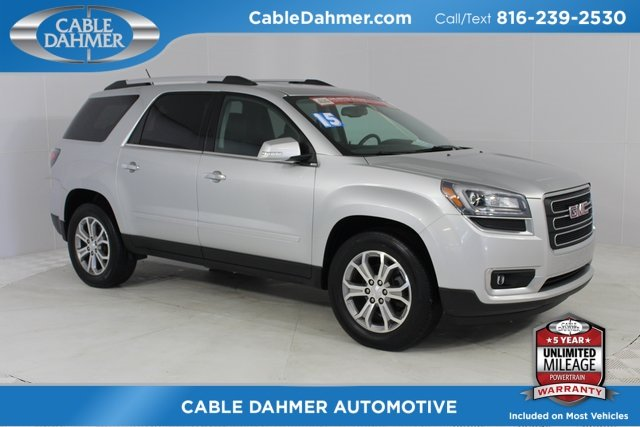 2015 Silver GMC Acadia SLT FWD 3.6L V6 SIDI Engine 4 Door Automatic