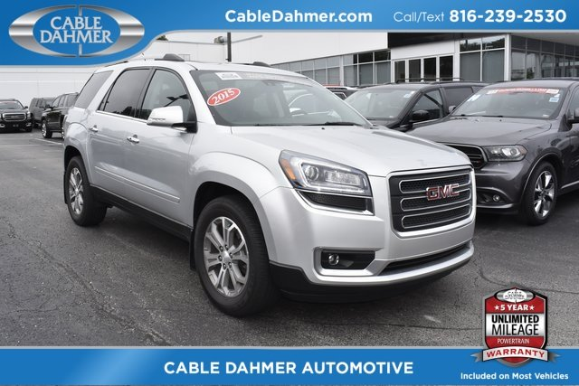 2015 Silver GMC Acadia SLT SUV 3.6L V6 SIDI Engine Automatic 4 Door
