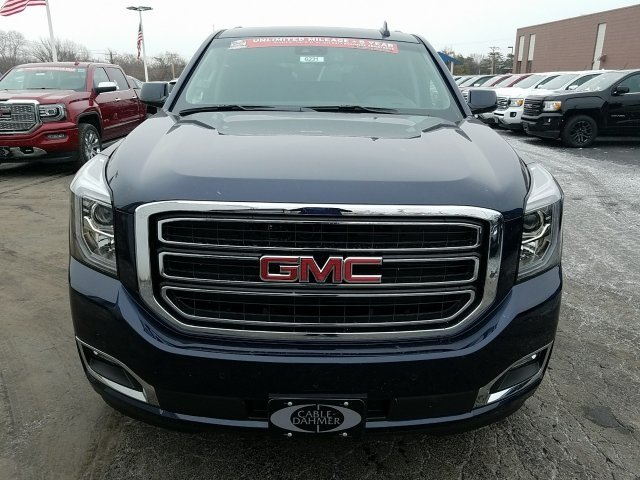 2018 Dark Sapphire Blue Metallic GMC Yukon SLT 4 Door SUV 4X4 Automatic EcoTec3 5.3L V8 Engine