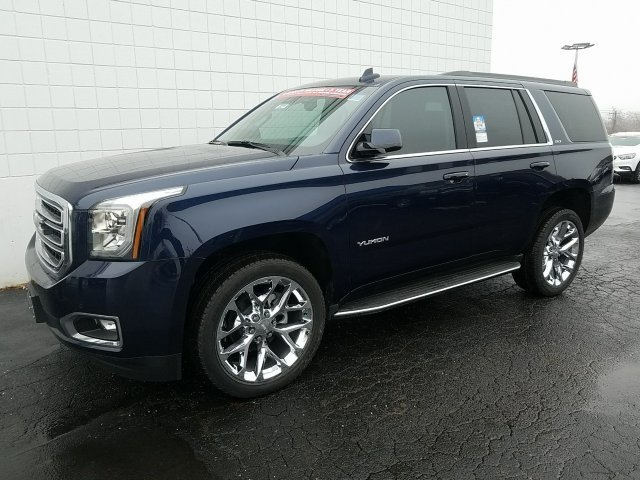 2018 Dark Sapphire Blue Metallic GMC Yukon SLT SUV EcoTec3 5.3L V8 Engine 4X4 4 Door Automatic