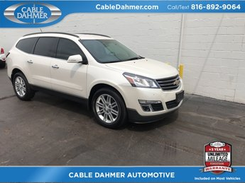 2014 White Diamond Tricoat Chevrolet Traverse LT 3.6L V6 SIDI Engine AWD Automatic SUV 4 Door