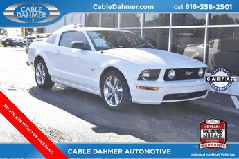 2007 Performance White Ford Mustang GT Premium Automatic 2 Door Coupe RWD