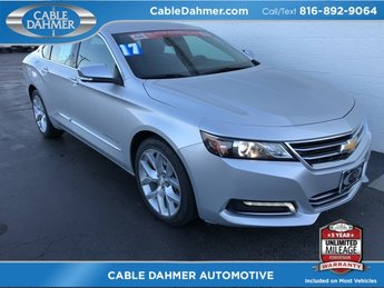 2017 Silver Ice Metallic Chevy Impala Premier Automatic Sedan 4 Door FWD 3.6L V6 DI DOHC Engine