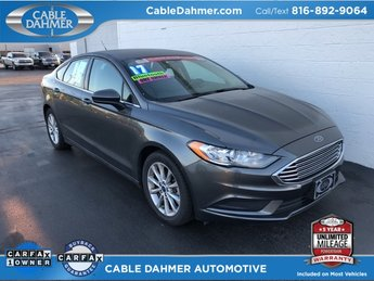 2017 Gray Ford Fusion SE FWD 2.5L iVCT Engine 4 Door