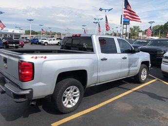 2014 Silver Ice Metallic Chevy Silverado 1500 LT EcoTec3 5.3L V8 Flex Fuel Engine 4X4 Truck 4 Door